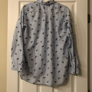 GAP Tops - GAP Light Blue with Cactus Accent Button Down